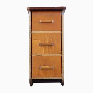 Mueble de contrachapado, pino y acero de Mobilor, años 50