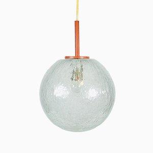 Lámpara colgante vintage grande de vidrio de Doria Leuchten, años 70