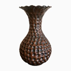 Mid-Century Embossed Copper Vase from Callegaris Udine