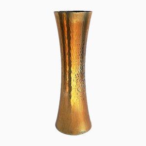 Goldene Mid-Century Vase von Zanetto