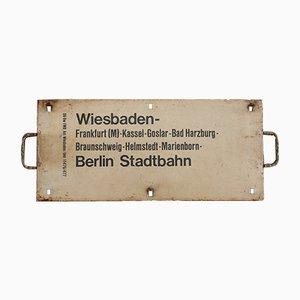 Antikes Zuglaufschild