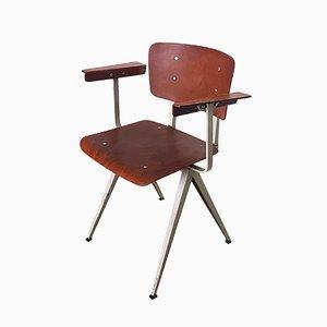 Sedia da pranzo S16 in compensato e acciaio di Galvanitas, anni '60