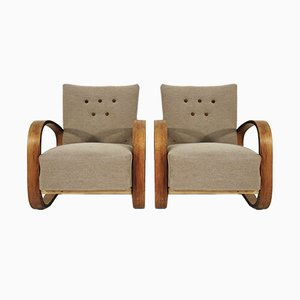 Cantilever Lounge Chairs by Miroslav Navratil, 1930s, Set of 2