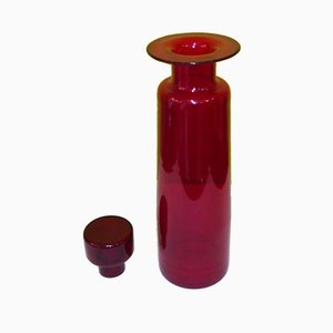 Mid-Century Red Glass Vase by Luciano Gaspari for Salviati & C.