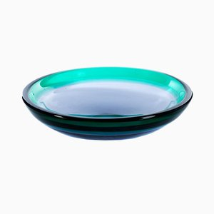 Mid-Century Blue Glass Bowl by Luciano Gaspari for Salviati & C.