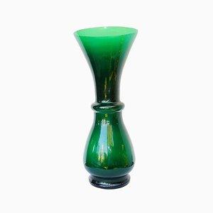 Vase Mid-Century en Verre Vert par Sergio Asti pour Salviati & C.