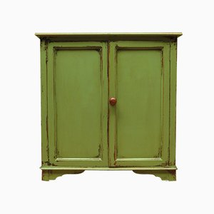 Antique Green Painted Cupboard