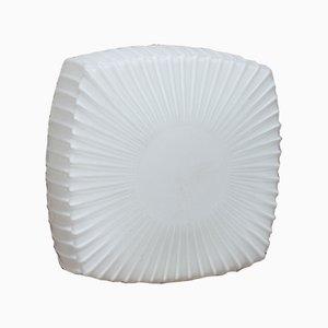 Applique in vetro opalino bianco