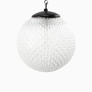 Lámparas colgantes vintage de baquelita con globo de vidrio