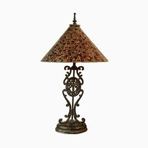 Tischlampe aus Bronze, 1940er