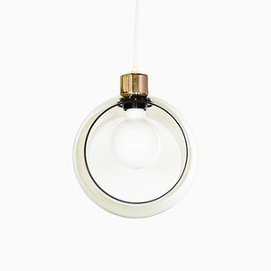 Circular Glass Ceiling Lamp, 1960s
