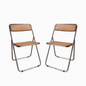 Vintage Folding Chairs by Giancarlo Piretti, 1970s, Set of 2