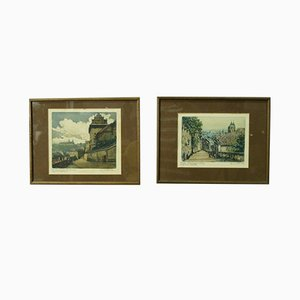 Vintage Etchings by Emil Wanke, 1930s, Set of 2