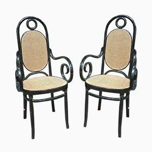 Chaises d'Appoint en Bois Courbe de Jacob & Joseph Kohn, 1950s, Set de 2