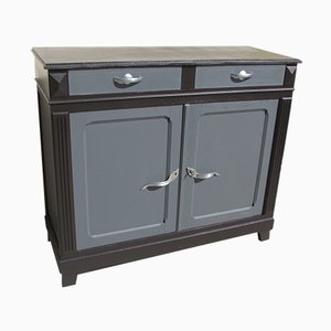 Antique Black & Grey Natural Wood Buffet