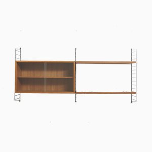 Teak Wall Unit by Strinning, Kajsa & Nils ''Nisse'' for String, 1960s