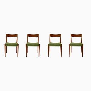 Esszimmerstühle aus Teak von Yngve Ekström für Hugo Troeds, 1950er, 4er Set