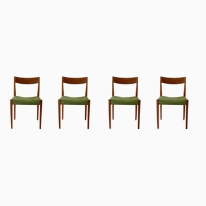 Teak Dining Chairs by Yngve Ekström for Hugo Troeds, 1950s, Set of 4
