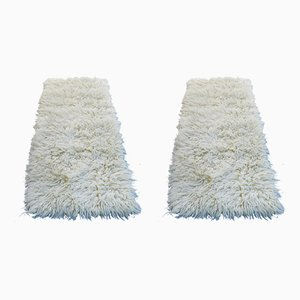 White Wool Carpets from Toulemonde Bochart, 1970s, Set of 2