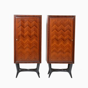 Rosewood Cabinets by Vittorio Dassi for Dassi Lissone, 1950s, Set of 2