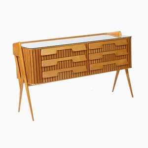 Maple Dresser by Silvio Cavatorta for Cavatorta Roma, 1950s