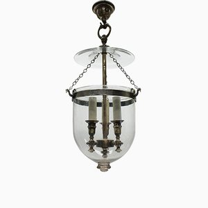 Antique Glass Ceiling Lamp with Candle holders