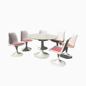 Juego de mesa y sillas de jardín, años 70