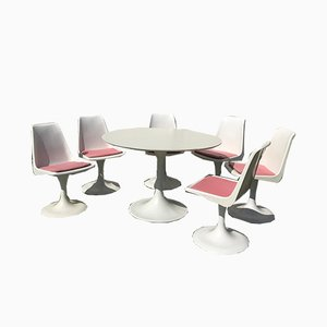 Set aus Gartentisch & Stühlen, 1970er
