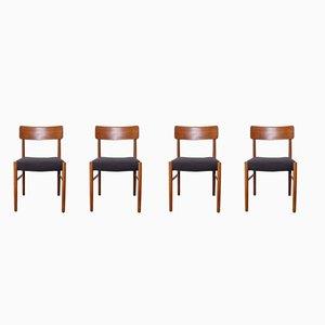 Dänische Esszimmerstühle aus Teak, 1950er, 4er Set