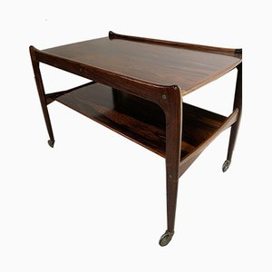 Danish Rosewood Drinks Trolley by Johannes Andersen for CFC Silkeborg, 1960s