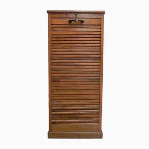 Oak Roller Shutter Cabinet, 1950s