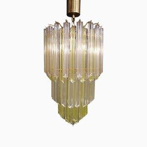 Lámpara de araña grande de prismas de cristal de Paolo Venini, años 70