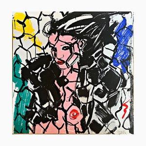 Bianca chromatischer Siebdruck von Luciano Castelli