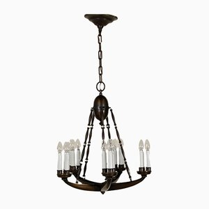 Lámpara de techo Mid-Century de latón de Guglielmo Ulrich