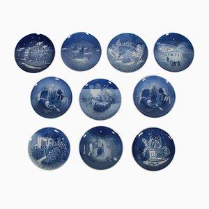 Assiettes Antiques en Porcelaine de Bing & Grondahl, Danemark, Set de 20