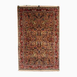 Indischer Vintage Srinagar Teppich aus Baumwolle & Wolle