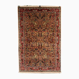 Vintage Indian Cotton & Wool Srinagar Carpet