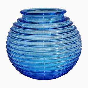 Vase im Art Déco-Stil von Richard Lauke, 1970er