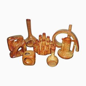 Jarrones italianos de cerámica de Bertoncello, años 60. Juego de 5