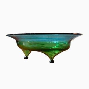 Cuenco vintage de vidrio, años 60