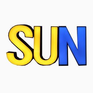 Panneau Lumineux Sun en 3 Dimensions Mid-Century, 1950s