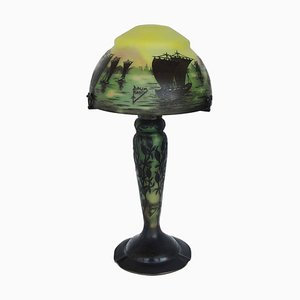 Jugendstil Cameo Tischlampe von Daum, 1920er