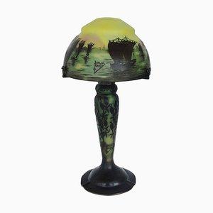 Lámpara de mesa Cameo modernista de Daum, años 20