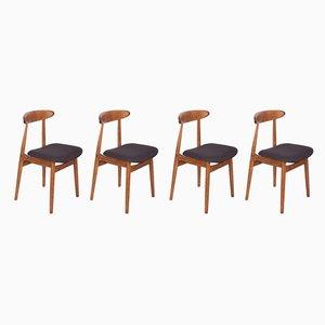 Esszimmerstühle von Rajmund Teofil Hałas, 1960er, 4er Set