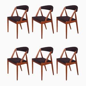 Chaises de Salle à Manger No. 31 par Kai Kristiansen pour Schou Andersen, 1960s, Set de 6