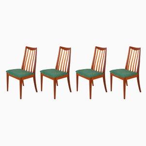 Chaises de Salle à Manger en Teck et Tissu par Leslie Dandy pour G-Plan, 1960s, Set de 4