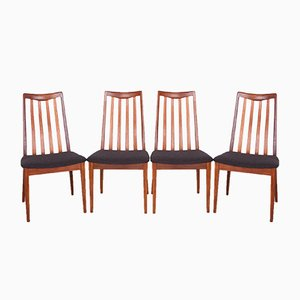 Vintage Teak & Fabric Dining Chairs by Leslie Dandy for G-Plan, 1960s, Set of 4