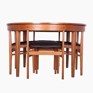 Mid-Century Teak Dining Table & Chairs Set from McIntosh, 1960s, Set of 5
