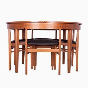 Table et Chaises de Salle à Manger Mid-Century en Teck de McIntosh, 1960s, Set de 5