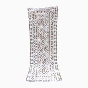Alfombra Kilim marroquí Mid-Century bordada, años 70